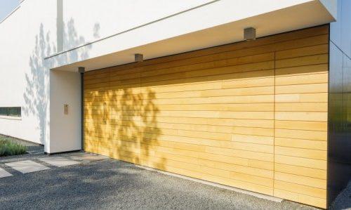 Overhead garagedeuren van hout