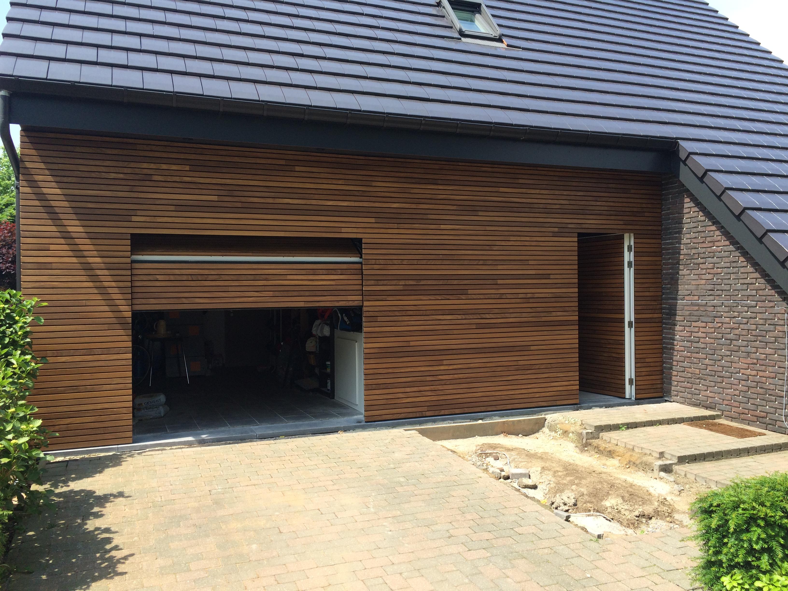 afrormosia hout sectionale garagedeur