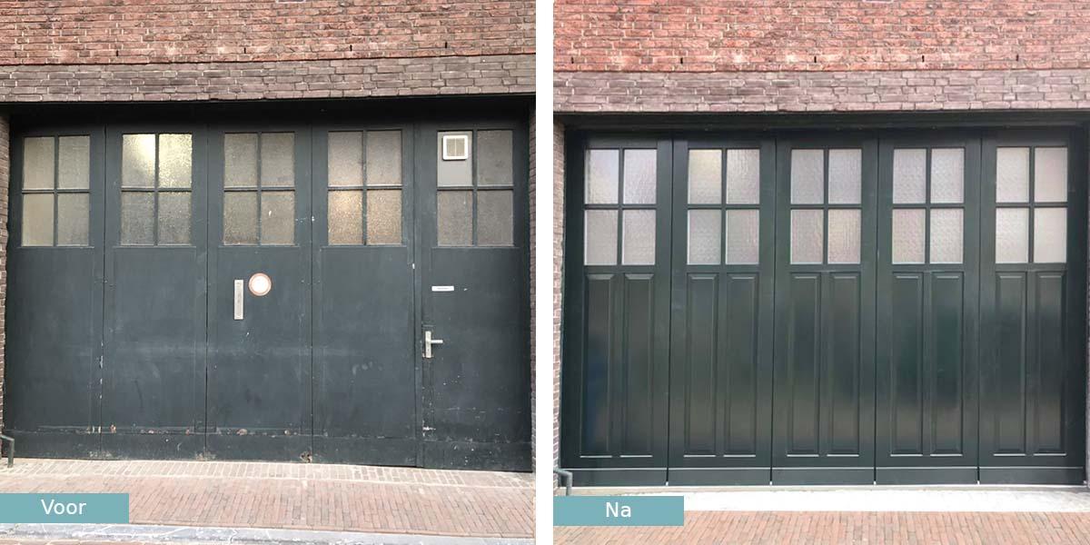 garagedeur-monumentaal-pand-delft-voor-na
