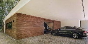 3 sectionaaldeuren plato hout