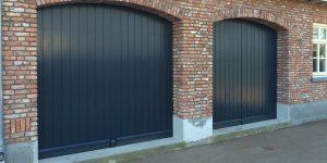 houten verticale sectionaaldeuren