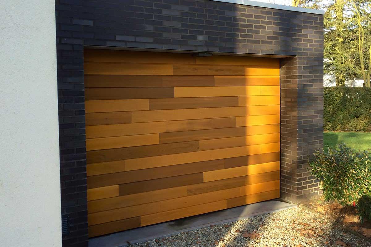 Garagedeur hout Red Cedar