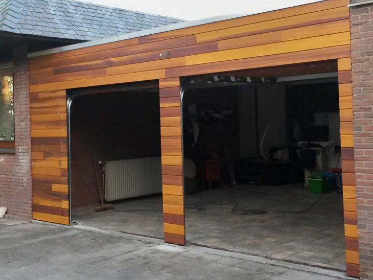 Luxe houten garagedeur