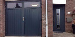openslaande garagedeur voordeur