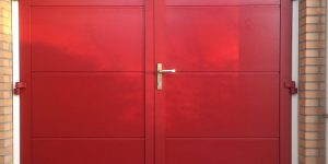 openslaande garagedeuren RAL kleur naar keuze