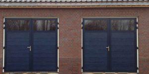garagedeur met geïsoleerd glas