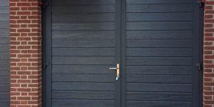 Openslaande garagedeur smalle nerf