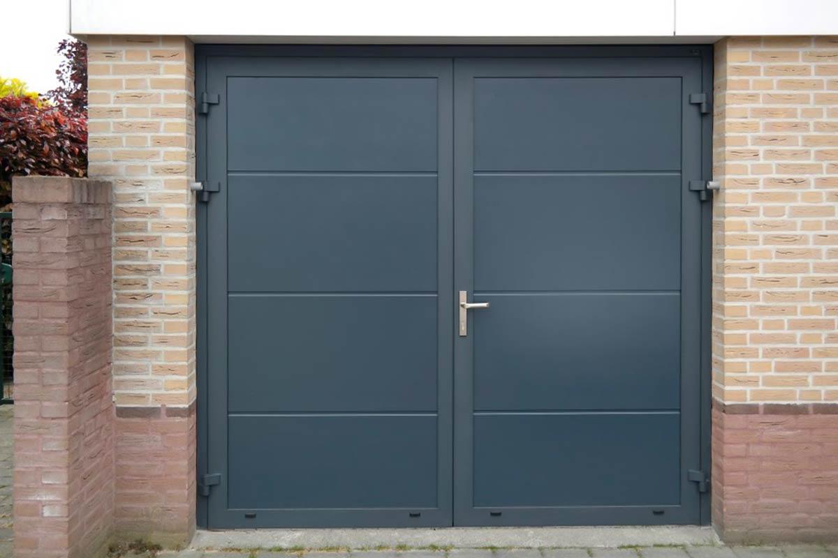 Garagedeur in structuurlak