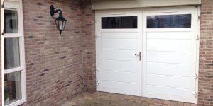 openslaande garagedeur glad HR-glas