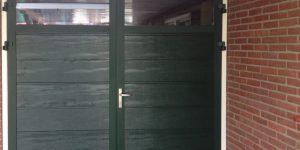 openslaande garagedeuren met HR glas
