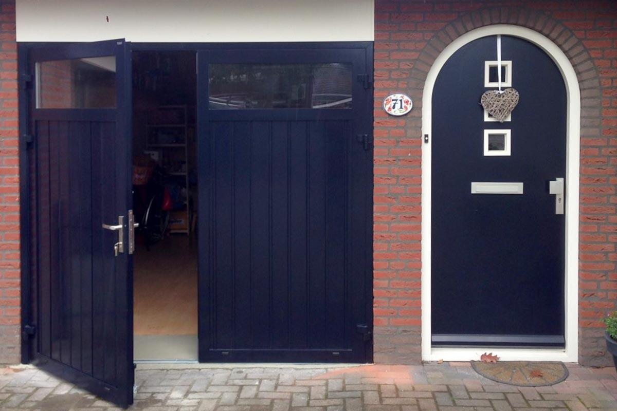 openslaande deur (blauw)