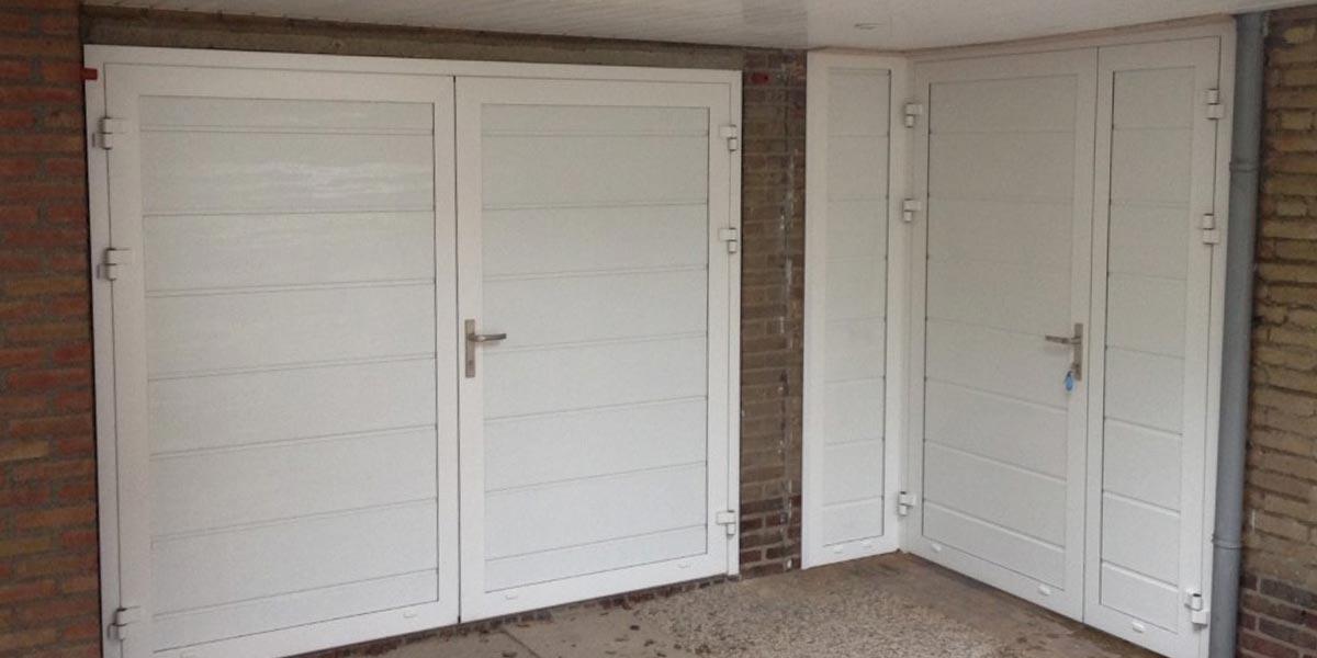 openslaande garagedeur loopdeur