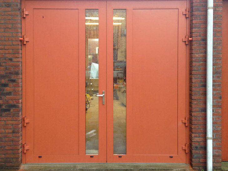 Openslaande deuren met verticaal glas