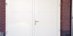Openslaande garagedeur RAL-9001