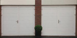 Kunststof openslaande garagedeuren