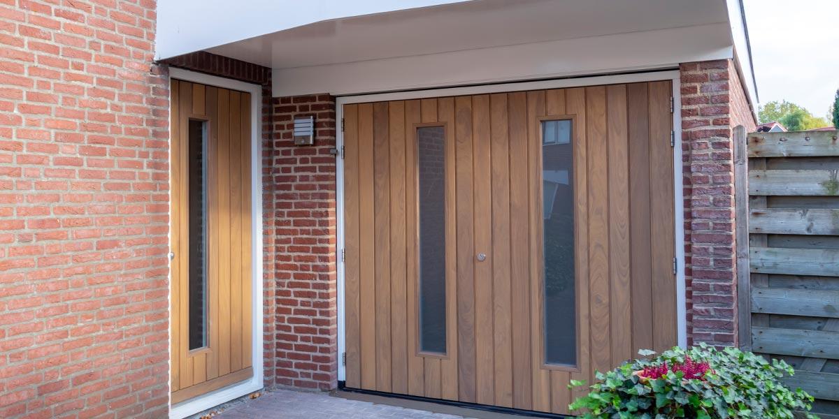 luxe houten garagedeuren