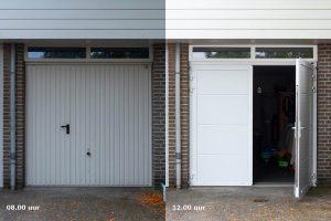 Onderhoudsarme openslaande garagedeur