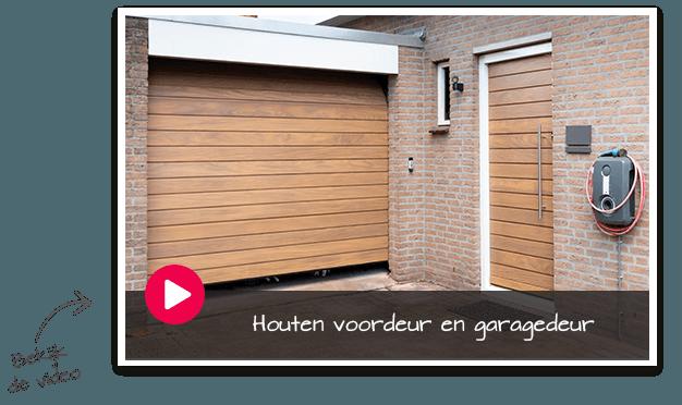 houten voordeur en houten garagedeur video