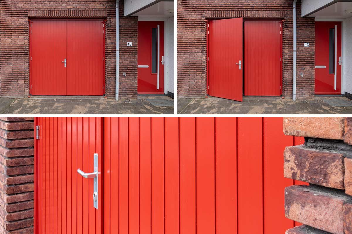 Houten-openslaande-garagedeur-moderne-woning-8