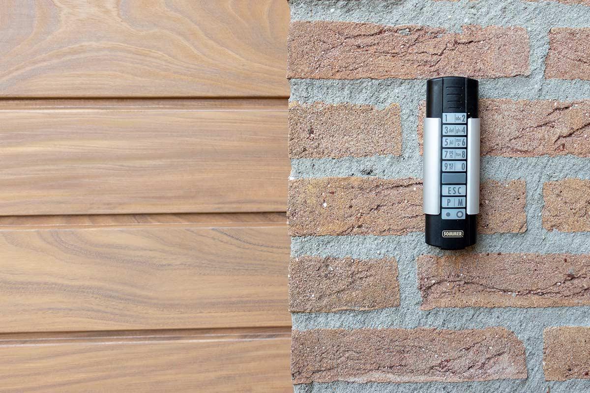 automatische-garagedeur-codeklavier