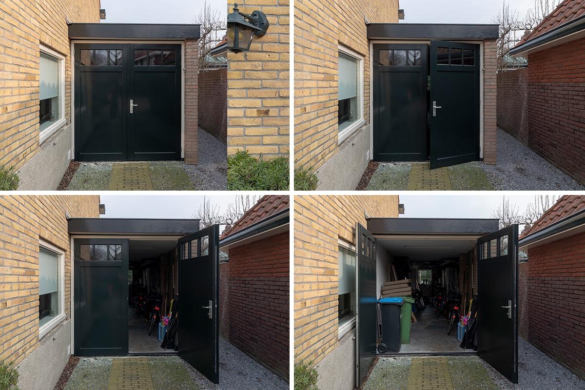 garagedeur met raampjes