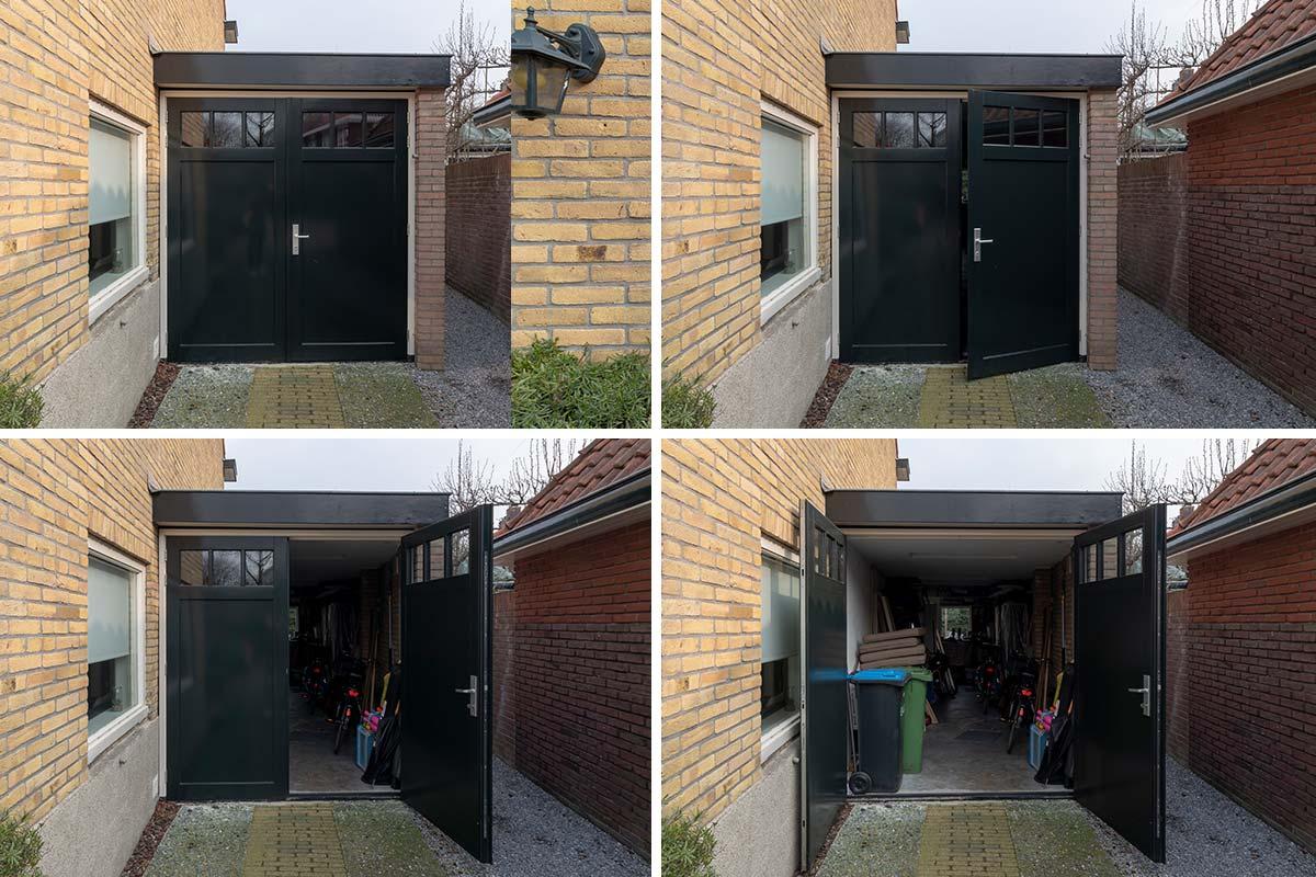 houten garagedeuren met ramen