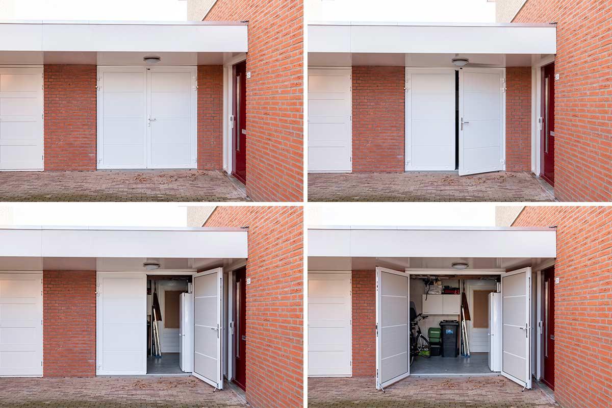 standaard witte openslaande garagedeur (1)