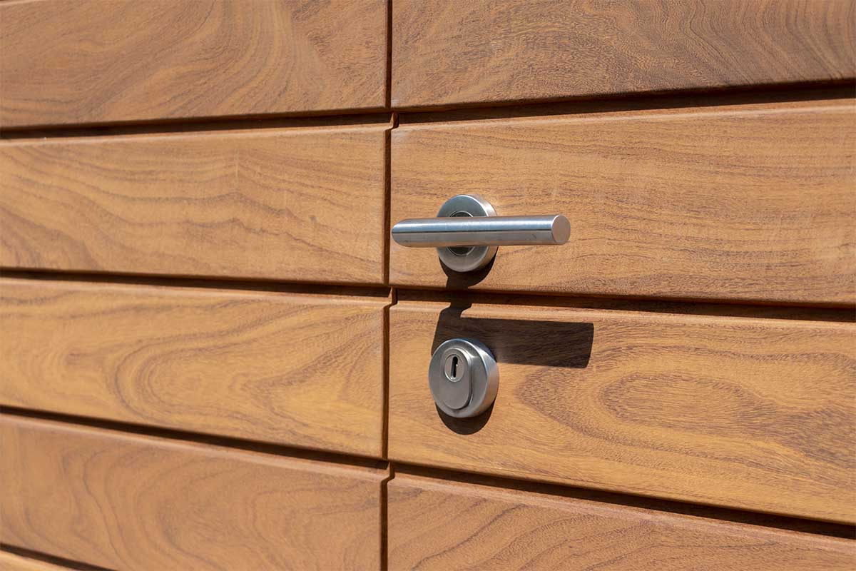 houten garagedeur openslaand