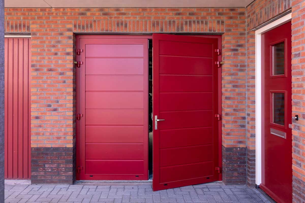 horizontale openslaande garagedeur