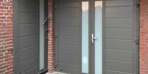 openslaande garagedeur met voordeur