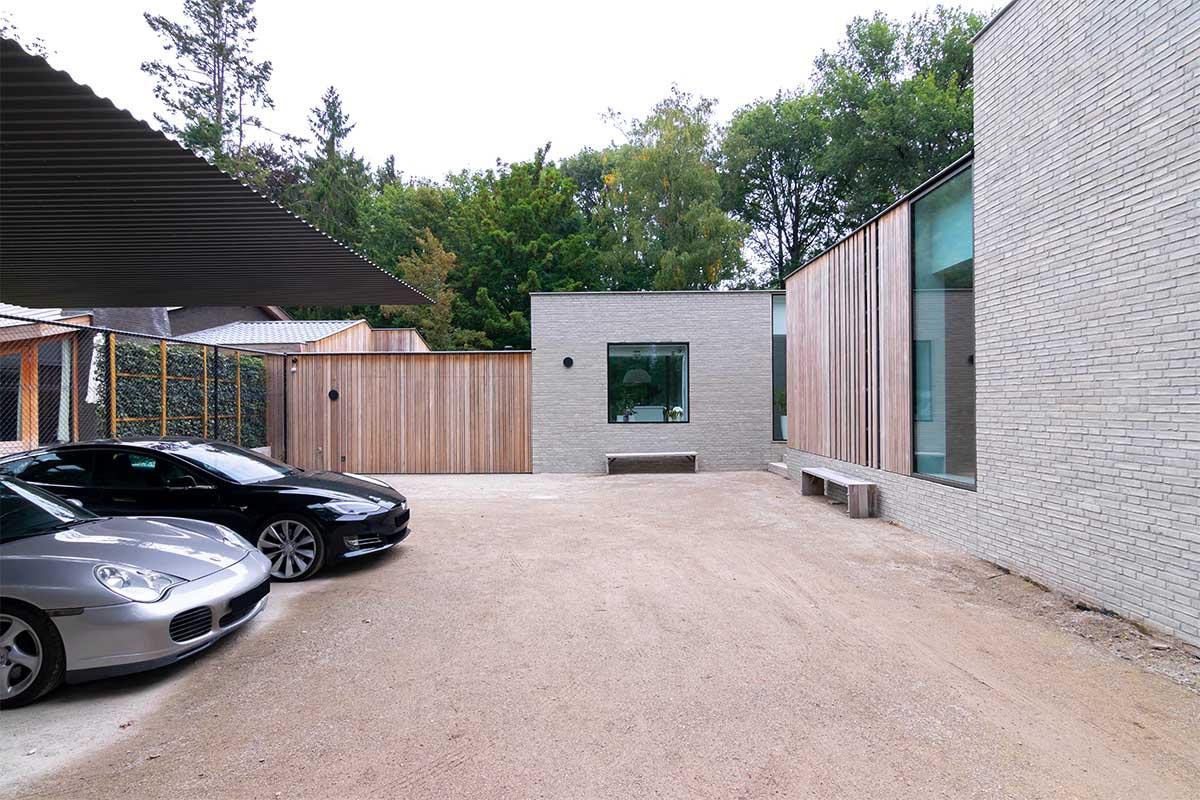 houten zijwaartse garagedeur