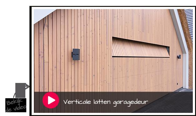 verticale latten garagedeur