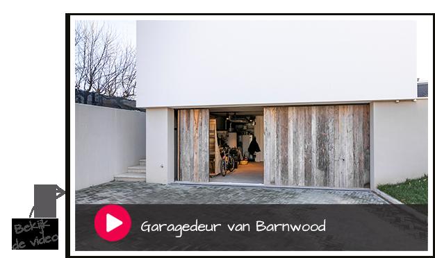 garagedeur van barnwood