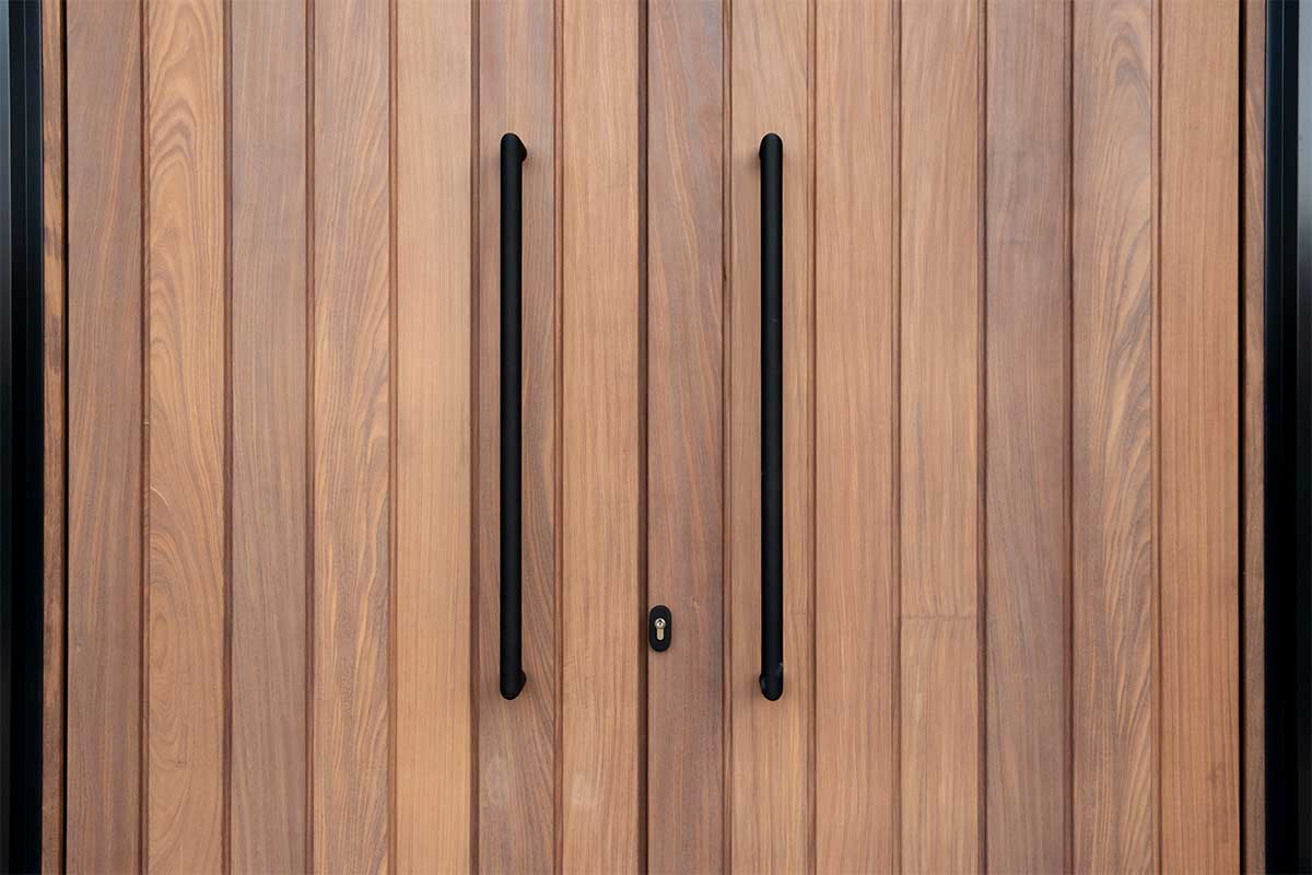 dubbele houten voordeur