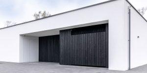 Garagedeur zwarthout