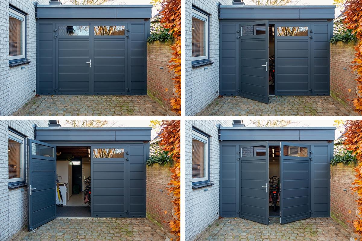 vast zijstuk bij openslaande garagedeur (4)